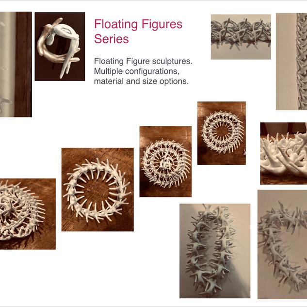 Floating Figures Sculptures