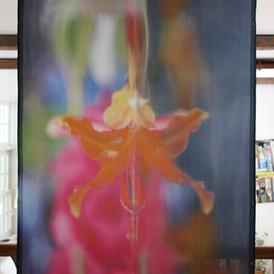 Large scale print, silk, Submerged Garden Series