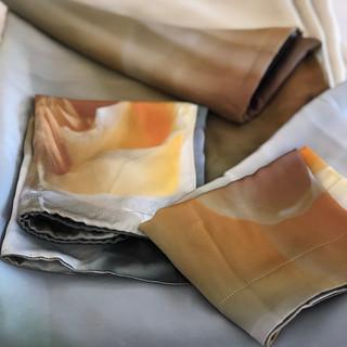 King/California King- Duvet Set (2 shams, Duvet- silk both sides, custom coordinating silk colors and silk bag) - Enlightenment