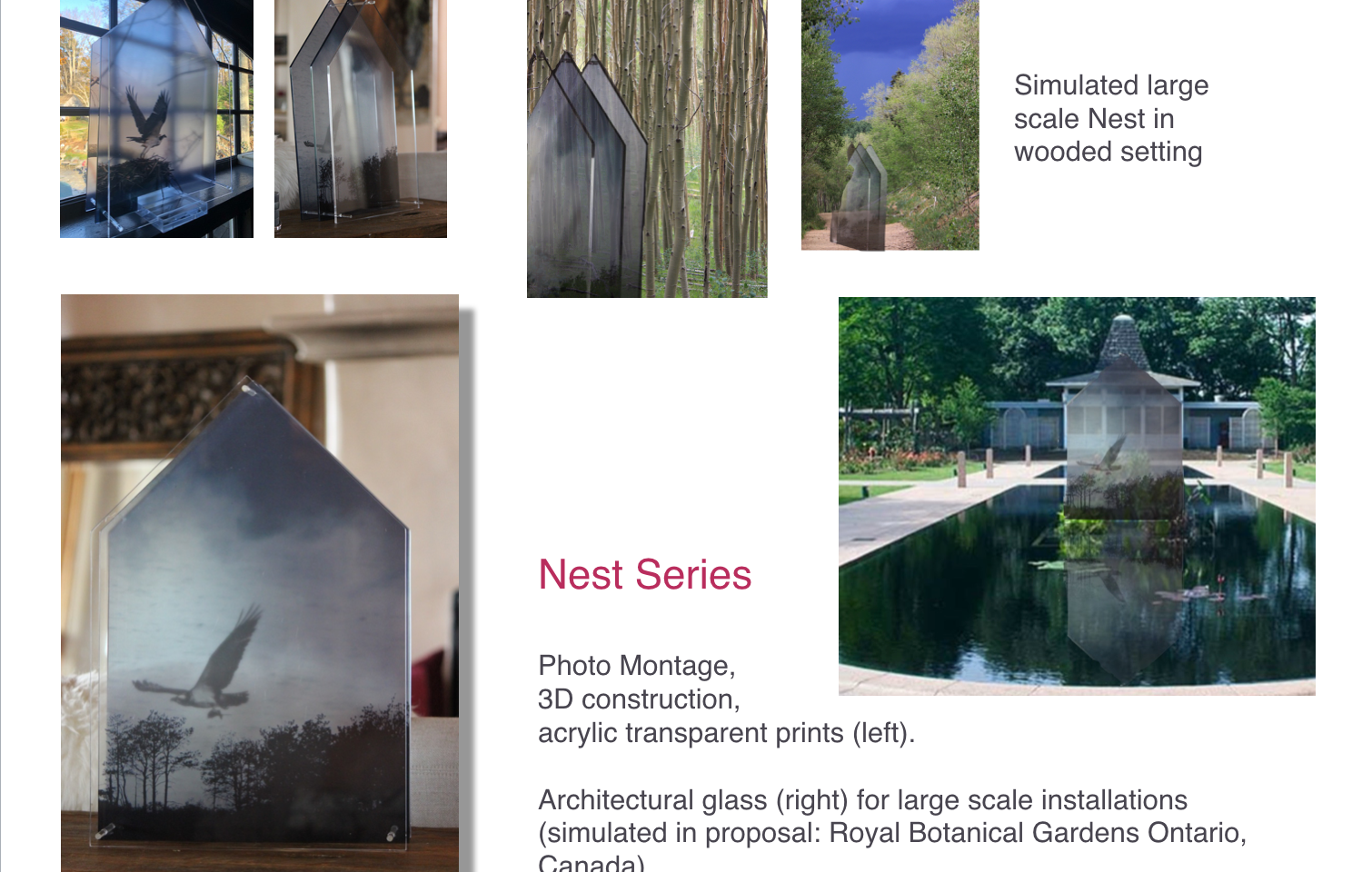 Nest Series, Architectural Glass Sculptures