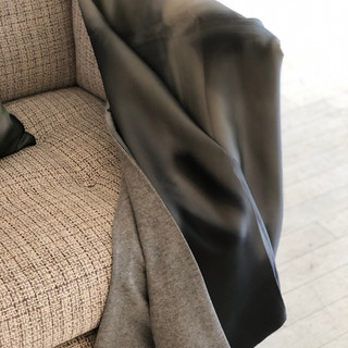 """Throw Blanket, cashmere and silk, 60""""x54"""" - Peace"""