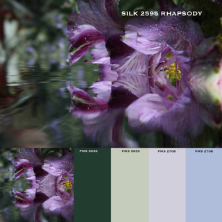 Square cropping and coordinating solids for custom designs
