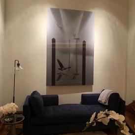 Large scale lenticular print, In Flight