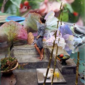 Rendering Submerged Garden Tile/Wallpaper