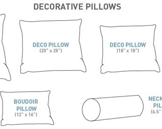 Select your decorative pillow sizes