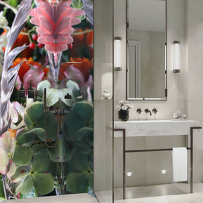 Rendering Submerged Garden glass/wallpaper application