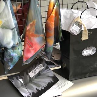 Gift Bags, brochure and silk display