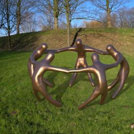 Unity Sculpture rendering, 6 feet bronze