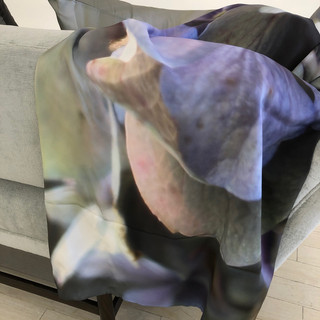 """Throw Blanket, silk both sides with hidden zipper (warm blanket can be inserted), 60""""x54"""" - Sanctuary"""
