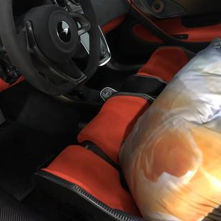 Silk Square Pillow- McLaren Car