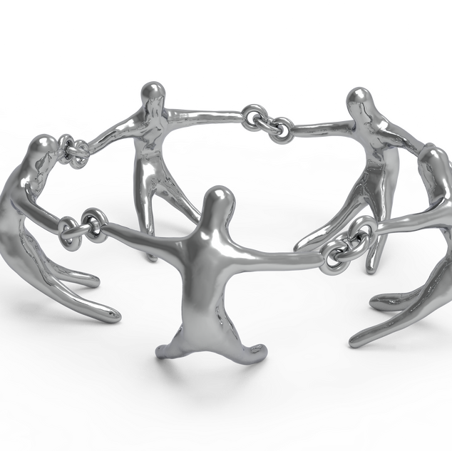 Unity Sculpture modular design rendering,