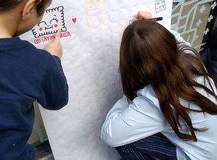 Atelier dessin à l'expo Arts Salés