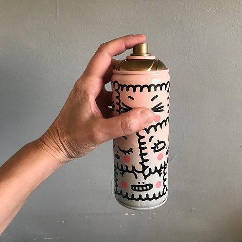Bombe aérosol décorée