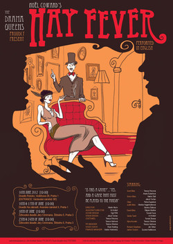 Hay fever theater game poster