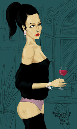 Lady with a wine