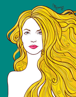 Golden hair girl