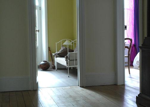 Palier des 5 chambres du gîte Maison des Champs