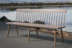 White Oak Spindle Back Bench