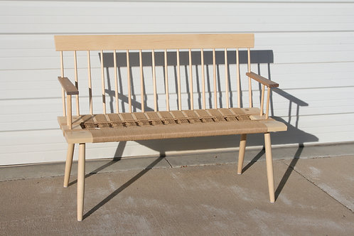 Danish Cord Spindle Back Bench