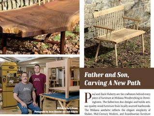 Miikana Woodworking Featured in Crave Magazine