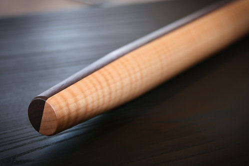 Half Walnut Half Curly Maple French Rolling Pin