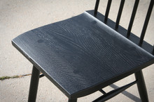 NEW Ebonized Spindle Back Chair