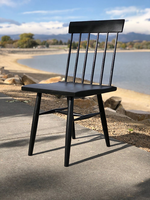 Ebonized Spindle Back Chair in Ash or Oak
