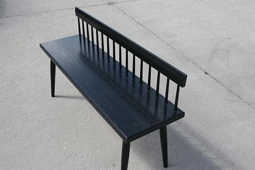 Low Back Ebonized Spindle Bench