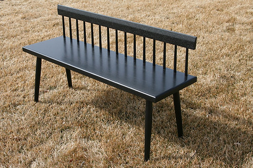 Low Back Ebonized Spindle Bench