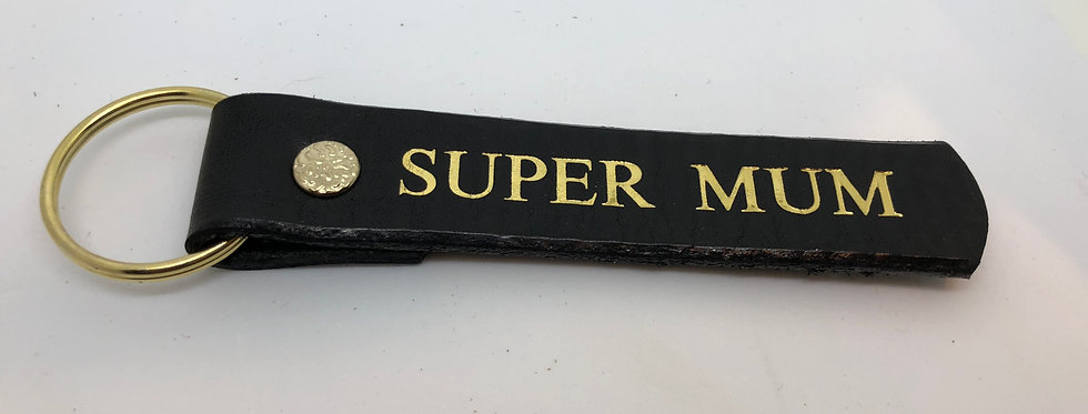 Supermum Leather Keyring