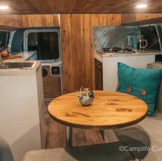 Converted Custom High Top Ford E150 Interior