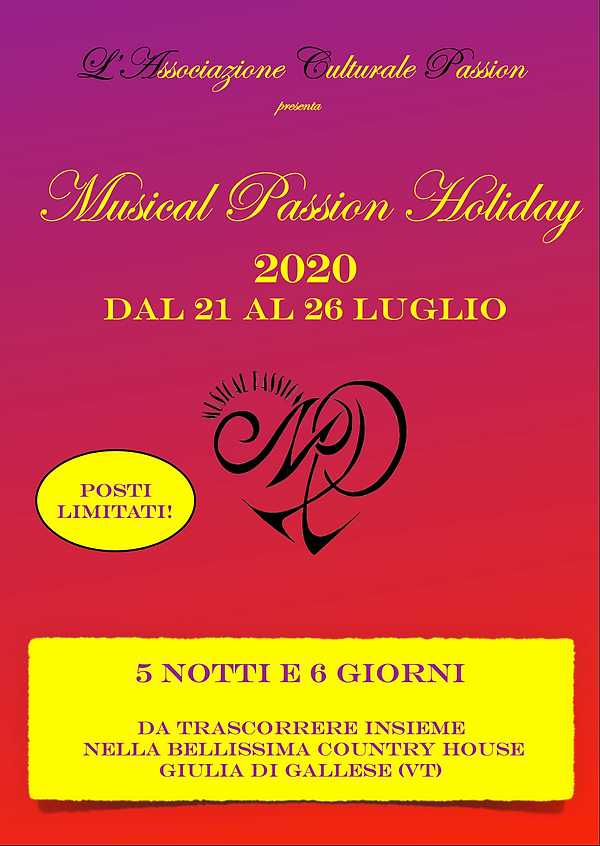 musical passion holiday 2020