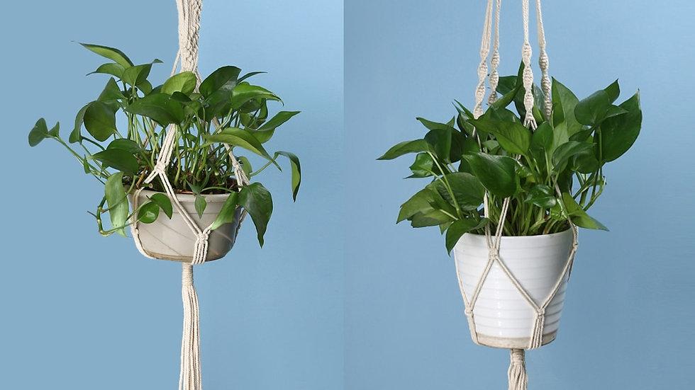 2 Size Macrame Flower Pot Hanger Holder Jute Rope