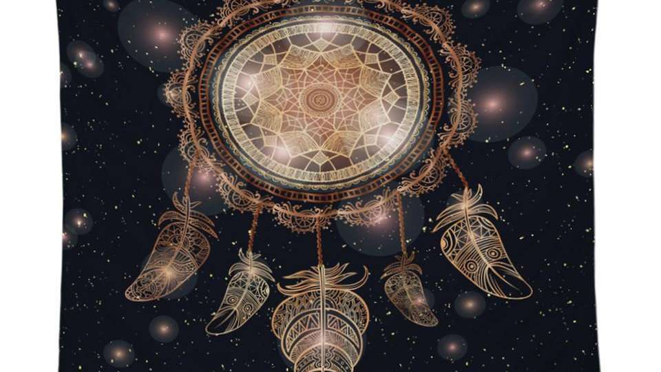 Galaxy Dream Catcher Tapestry