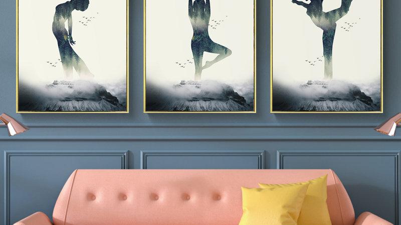 Yoga Girl Wall Art