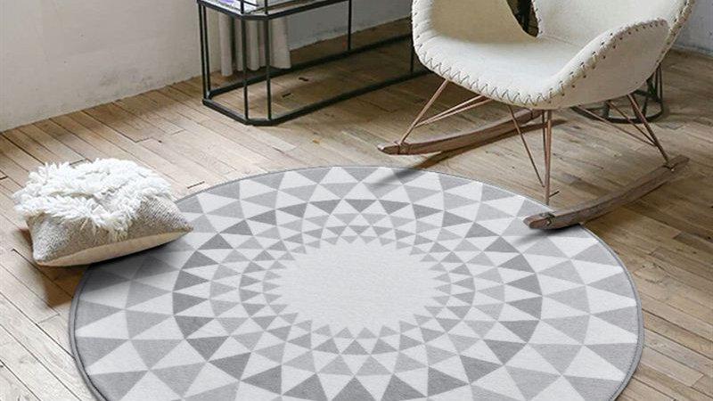 Nordic Gray Series Round Rug
