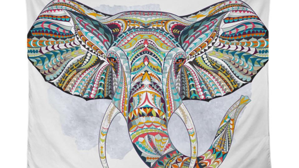 Elephant Tapestry Wall Hanging Animal Wall Carpet