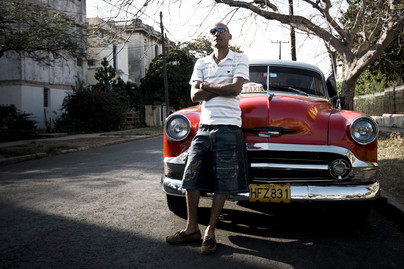 Chauffeur de taxi, La Havane, Cuba