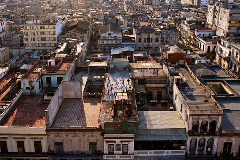 Cours de Karate sur les toits, La Havane