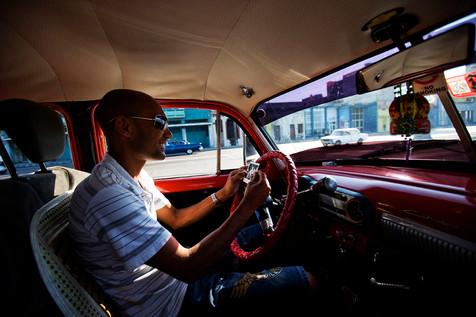 Chauffeur de taxi, Cuba