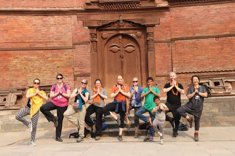 Yoga at Kathmandu Durbar Sq.