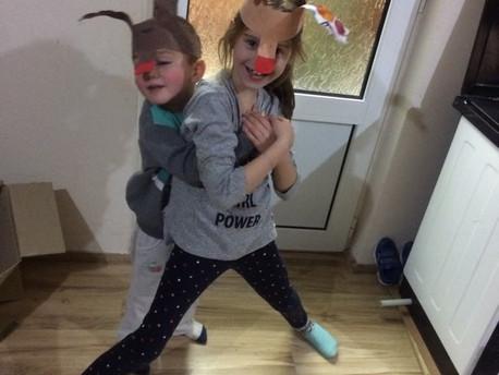 Irvas crvenog nosa, novogodišnja maska