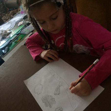 Crtanje grafitnom olovkom, ideja za crtanje