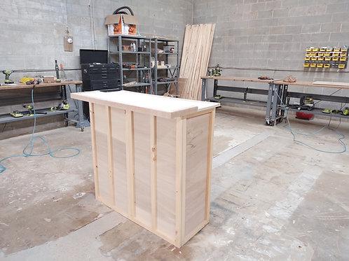 Home Bar Furniture, 48x24x42, Shelving, Cabinet