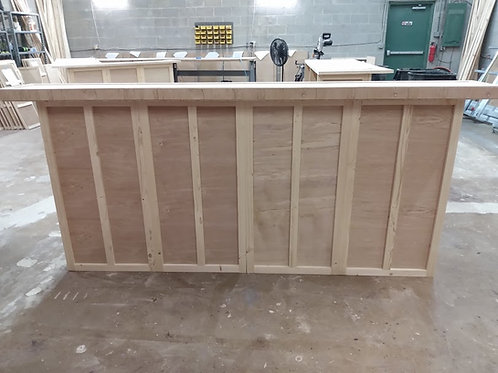 Home Bar Furntiure 96x24x42 with 2 level wooden bar top