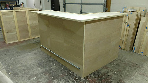 Home Bar Furniture 72x24x42 w/ 36x24x42 Side Ext.