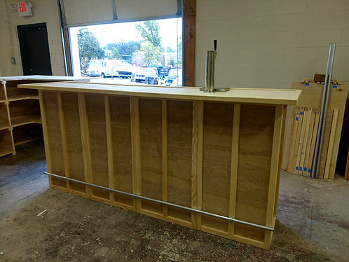 Home Bar Furniture, Solid Wood, 72x24x42, Keg Tap / Plate