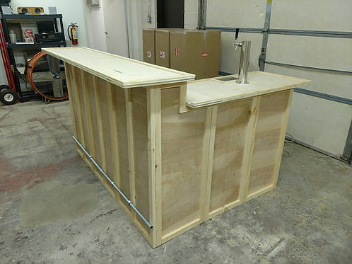 Home Bar Furniture, 72X24X42 & Side, Keg Tap / Drip Plate
