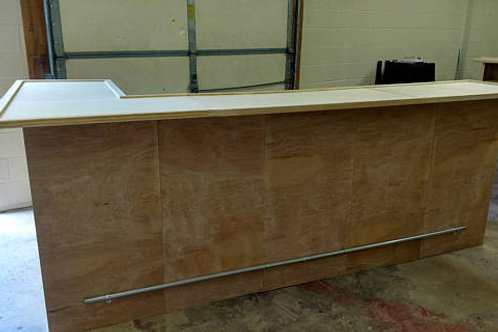 """Home Bar Furniture,120x24x42 & 36"""" Side Extension, Seats 8"""