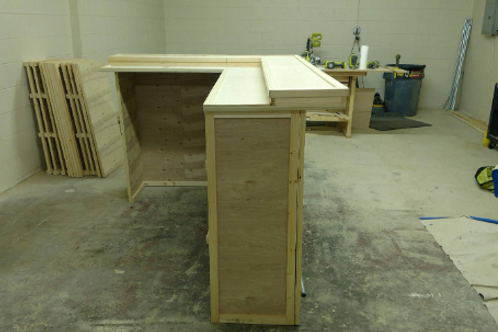 Multi-level wooden top